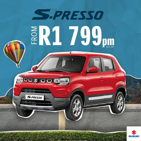 Book a test drive in the Suzuki S-Presso