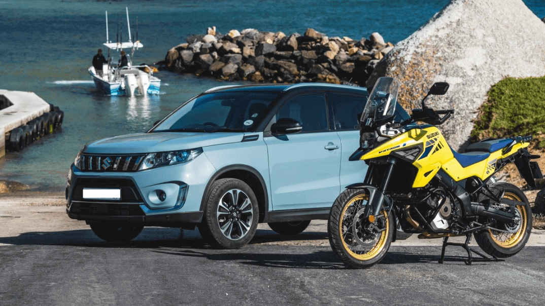 Japenese quality and design includes Vitara and motorcycles